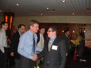 Jim Schweitzer and Senator Warner at an NCTC Event in Roanoke, VA