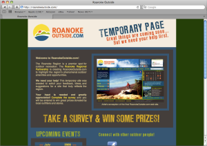 The RoanokeOutside.com temporary page